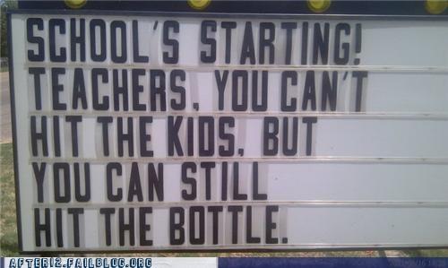 alcoholism back to school Hall of Fame students teachers violence - 5099403008