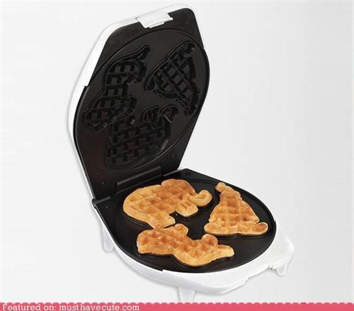 animals circus epicute shapes waffle iron waffles zoo - 5099427584