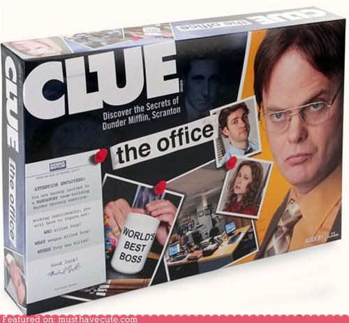 board game clue game television the office TV