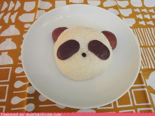 asian bean bun epicute panda Paste sweet
