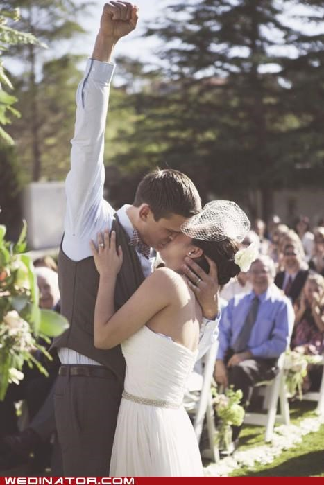 bride fist funny wedding photos groom Hall of Fame KISS - 5099514880