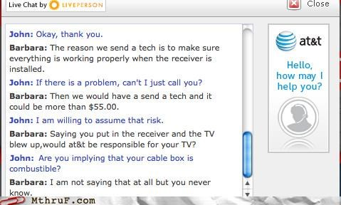 chat Hall of Fame live chat tech help television troubleshooting