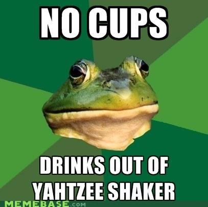 alcohol drinks foul bachelor frog shaker wine yahtzee - 5099544064