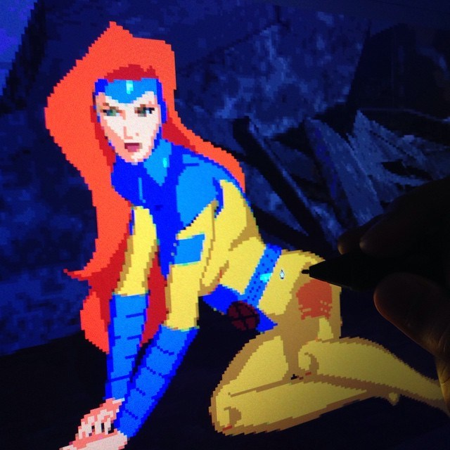 animation x men pixel art 90s - 509957