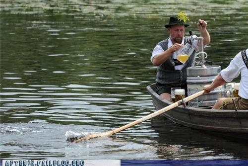 beer Germany keg ride rowboat - 5099761664