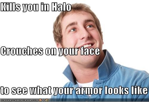 armor,coffee,crouches,halo,misunderstood mitch,teabag,video games