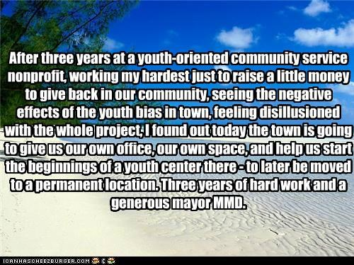 community service,generosity,hard work,It Made My Day,mayor,project,story,win,youth