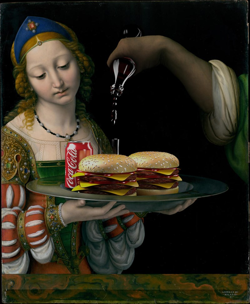 art paintings junk food classic burgers - 5100805