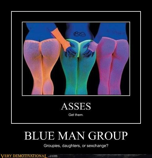 Blue Man Group buns gender issues mindwarp