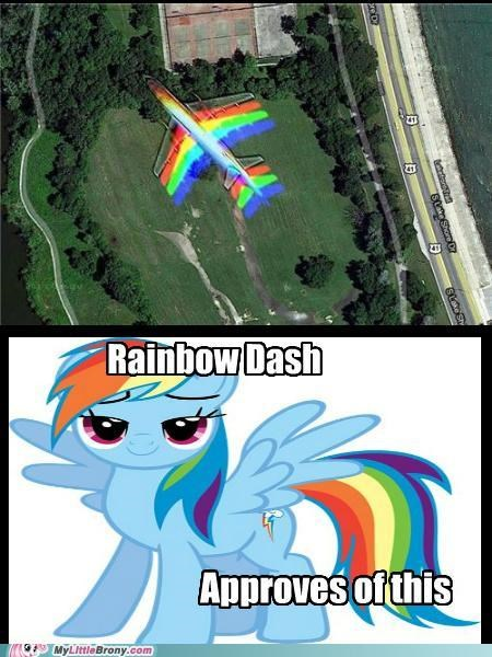 colors IRL plane rainbow dash - 5100948736