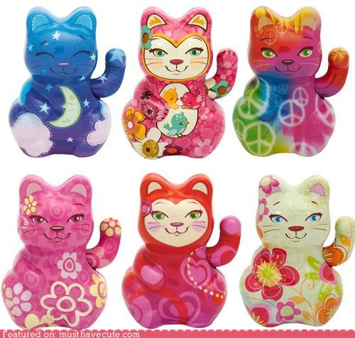 ceramic design lucky cats print - 5100974336