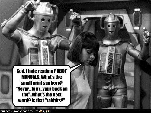 doctor who dumb historic lols manuals misreading reading robots - 5101420800