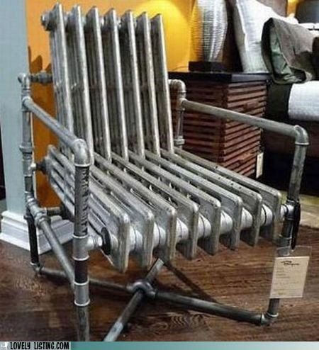 chair furniture radiator