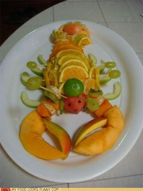 art fruit lobster salad sculpture - 5102120960