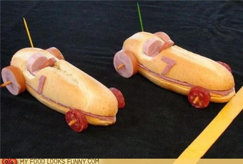 bread cars meat pepperoni race cars sandwiches sheels toothpicks - 5102194944