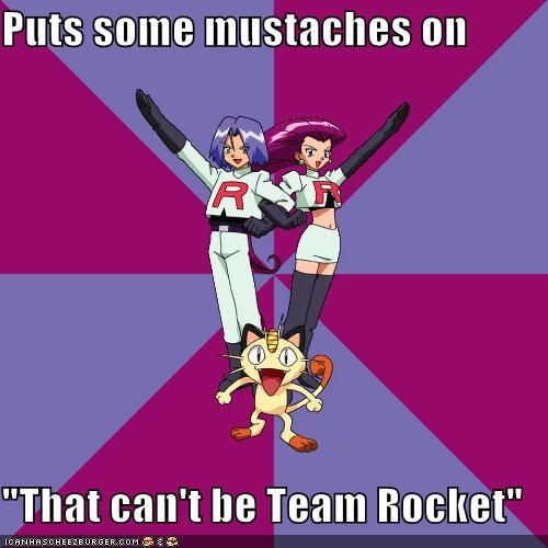 disguise Memes mustache Team Rocket - 5102246144