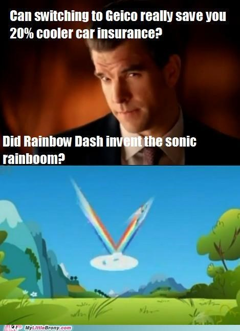 commercial GEICO insurance rainbow dash sonic rainboom - 5102628608