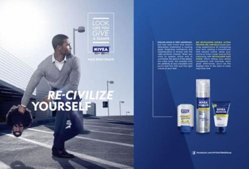 Look Like You Give A Damn Marketing Campaign Nivea Questlove Re-Civilize Yourself thats-racist