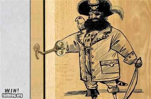 door hacked irl hook lock Pirate - 5102682880
