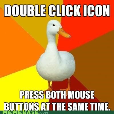 computers double icon middle mouse Technologically Impaired Duck - 5102867456