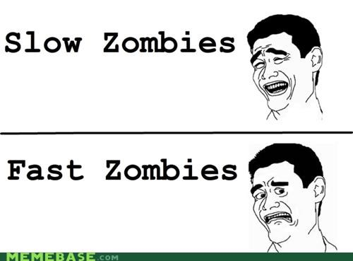 fast,key,Rage Comics,slow,speed,zombie