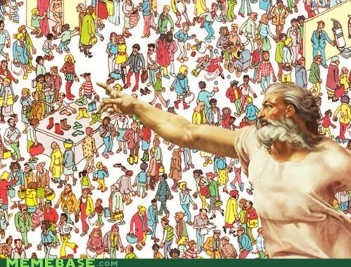god Memes pointing wally wheres waldo