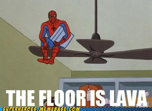 floor,game,lava,Spider-Man,Super-Lols