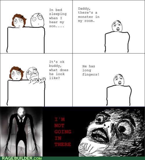 kids,Rage Comics,scary,slenderman