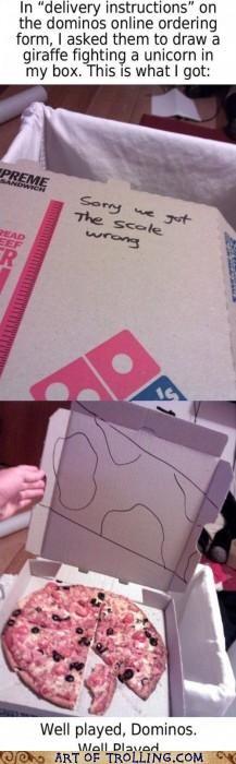 giraffes illustration IRL pizza special instructions unicorn - 5103087104