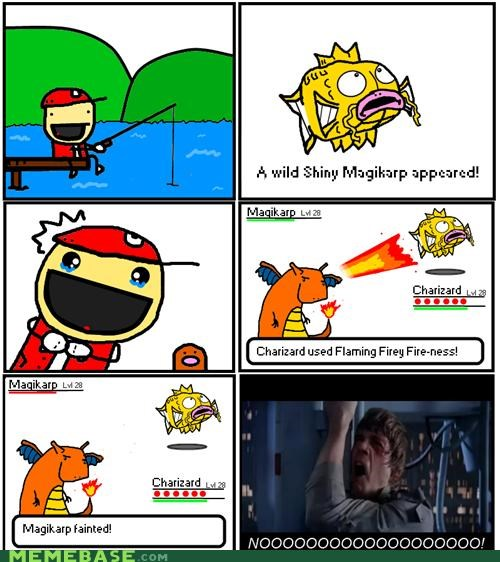 charizard,comic,critical hit,magikarp,shiny