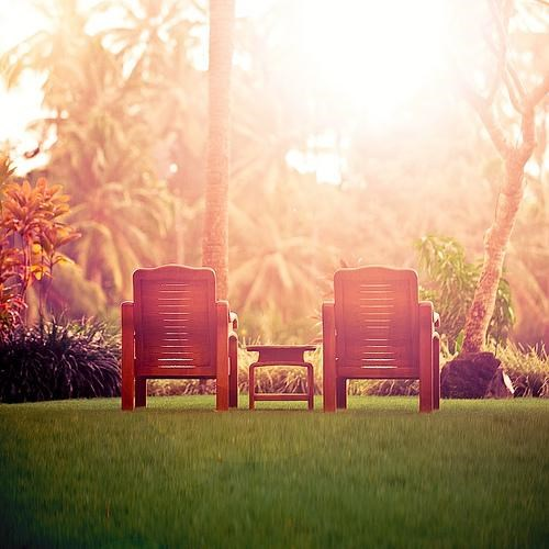 bali chair getaways inviting lawn outdoors palm trees rainforest sunset table Tropical Ubud - 5103188736