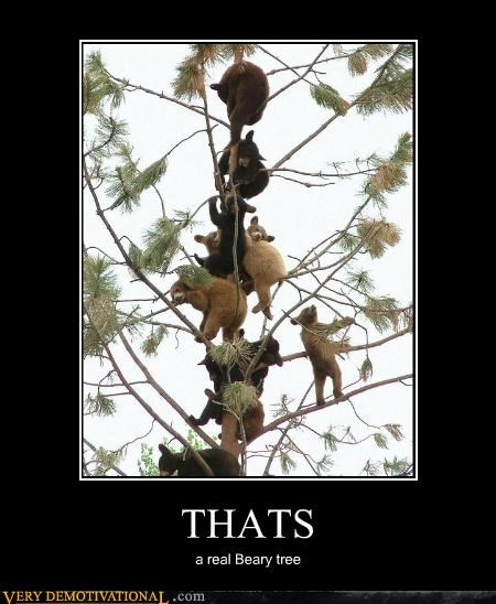 animals bears cute puns Pure Awesome tree - 5103232768