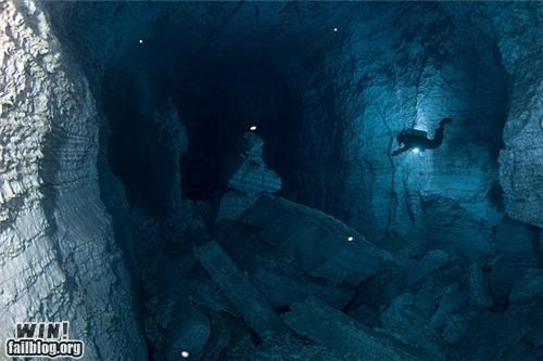 cave cavern diving scuba underwater - 5103389952