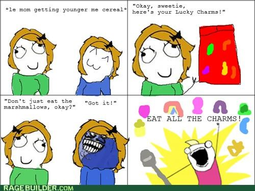 cereal,i lied,lucky charms,marshmallows,Rage Comics