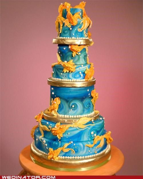 cakes funny wedding photos goldfish Hall of Fame wedding cakes - 5103404544