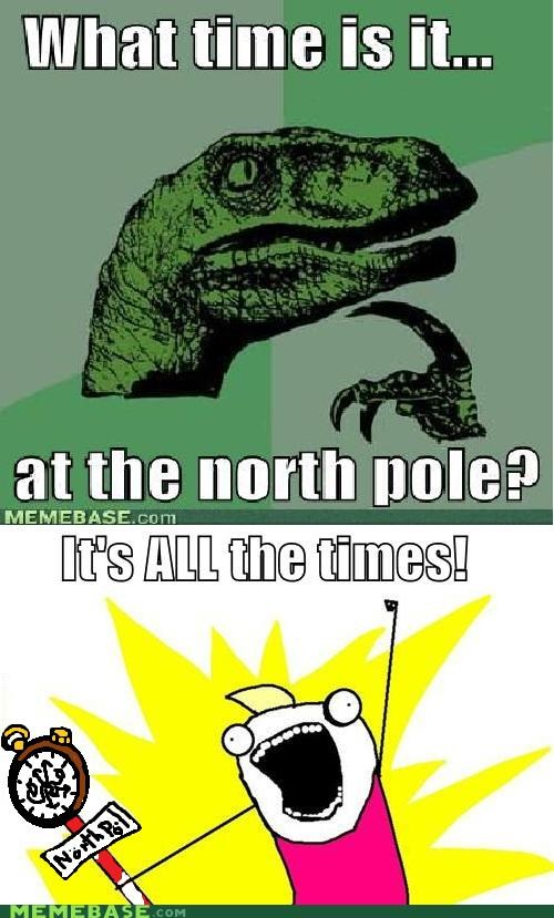 all the things GMT north pole philosoraptor time