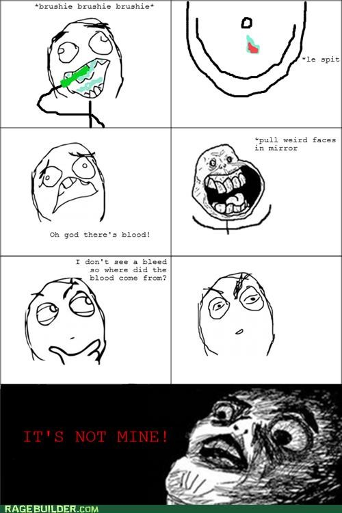 brush forever alone Rage Comics teeth - 5103437312