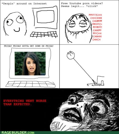 FRIDAY,hate,Rage Comics,Rebecca Black,worse than expected