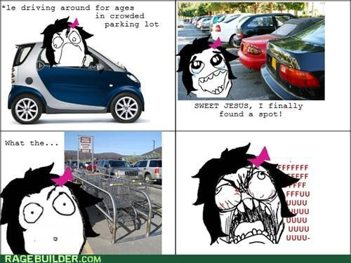 driving fu gal parking Rage Comics shopping carts - 5103463168