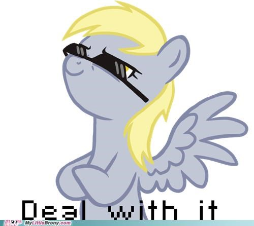 Deal With It derpy hooves sunglasses - 5103653632