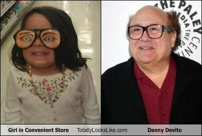 actor,comedians,comedy,convenience store,danny devito,girl,glasses