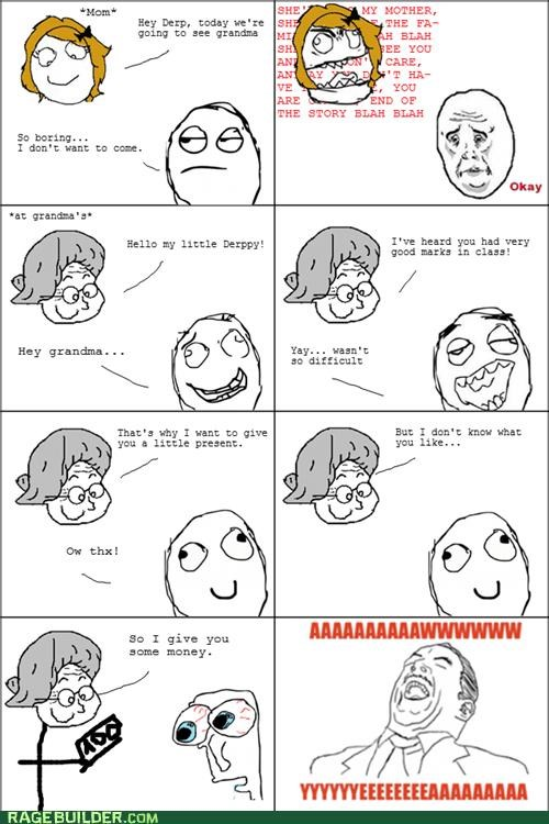 aww yeah grandma money Rage Comics - 5103810816