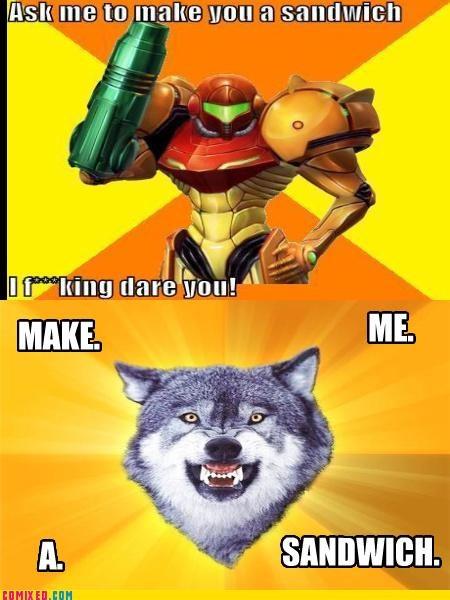 best of week Courage Wolf Metroid sammich samus sandwich the internets - 5104037376