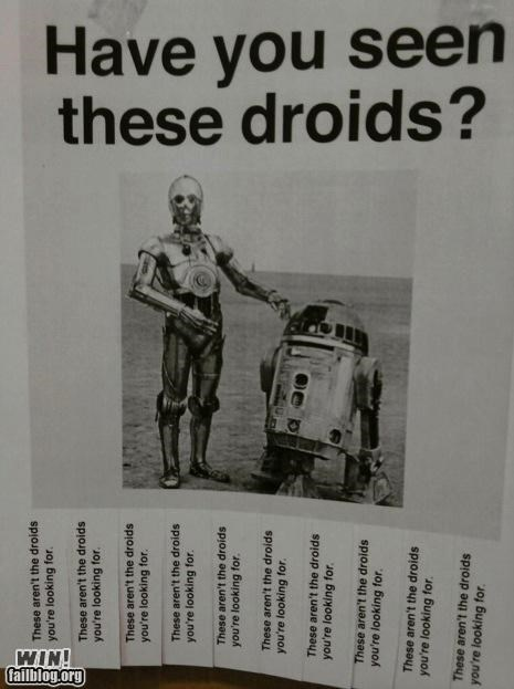 C-3PO,droids,lost,r2-d2,sign,star wars