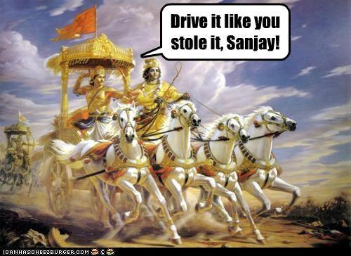 Drive it like you stole it, Sanjay!
