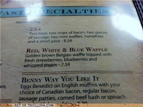 Blue waffle for breakfast please