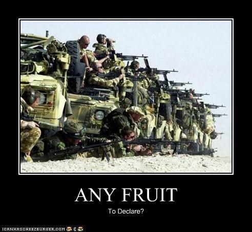 ANY FRUIT To Declare?
