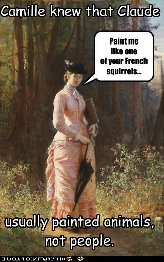 french girls historic lols paint me paintings puns squirrels