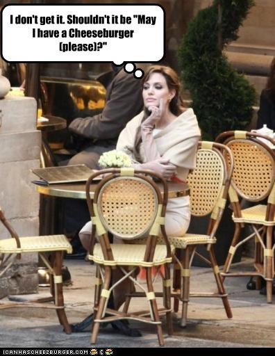 actresses Angelina Jolie cheezburger dont get it grammar lolcats roflrazzi self referential thinking - 5105009920