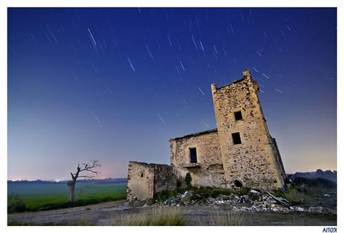 blue,catalonia,getaways,long exposure,night photography,Spain,star trails,Tarragona